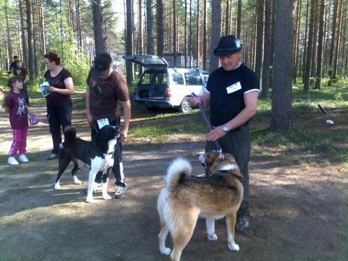 Voitto ja Tapio koirana yttelyssa  14.8.10 (Medium)